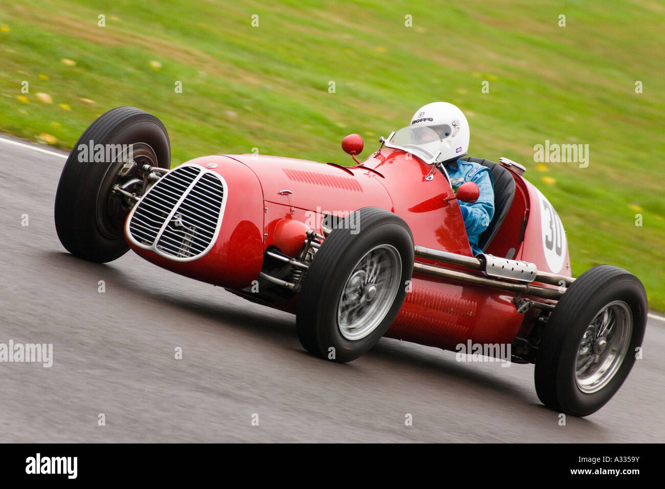 during the Richmond Trophy race at Goodwood Revival, Sussex, England. - Stock Image