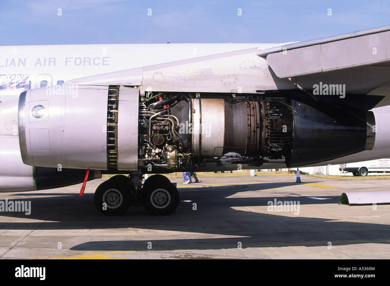Boeing 707 Pratt & Whitney JT3B jet engine detail Stock