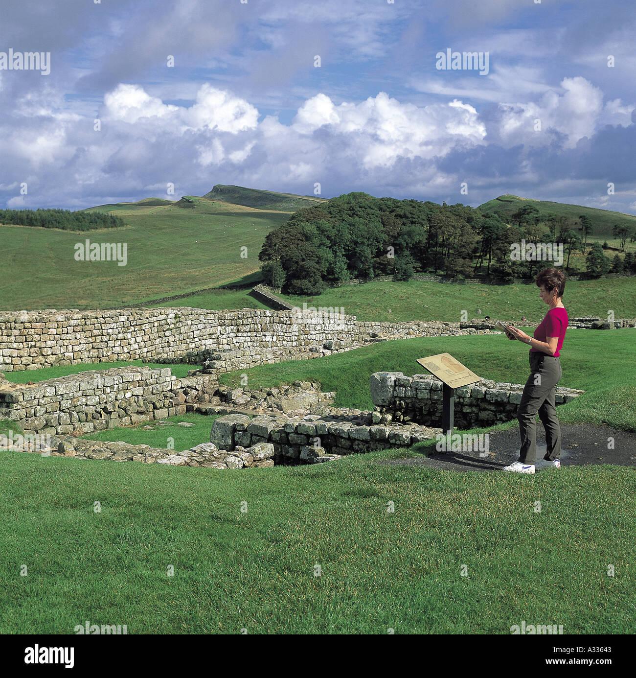 Hadrian s Wall - Stock Image