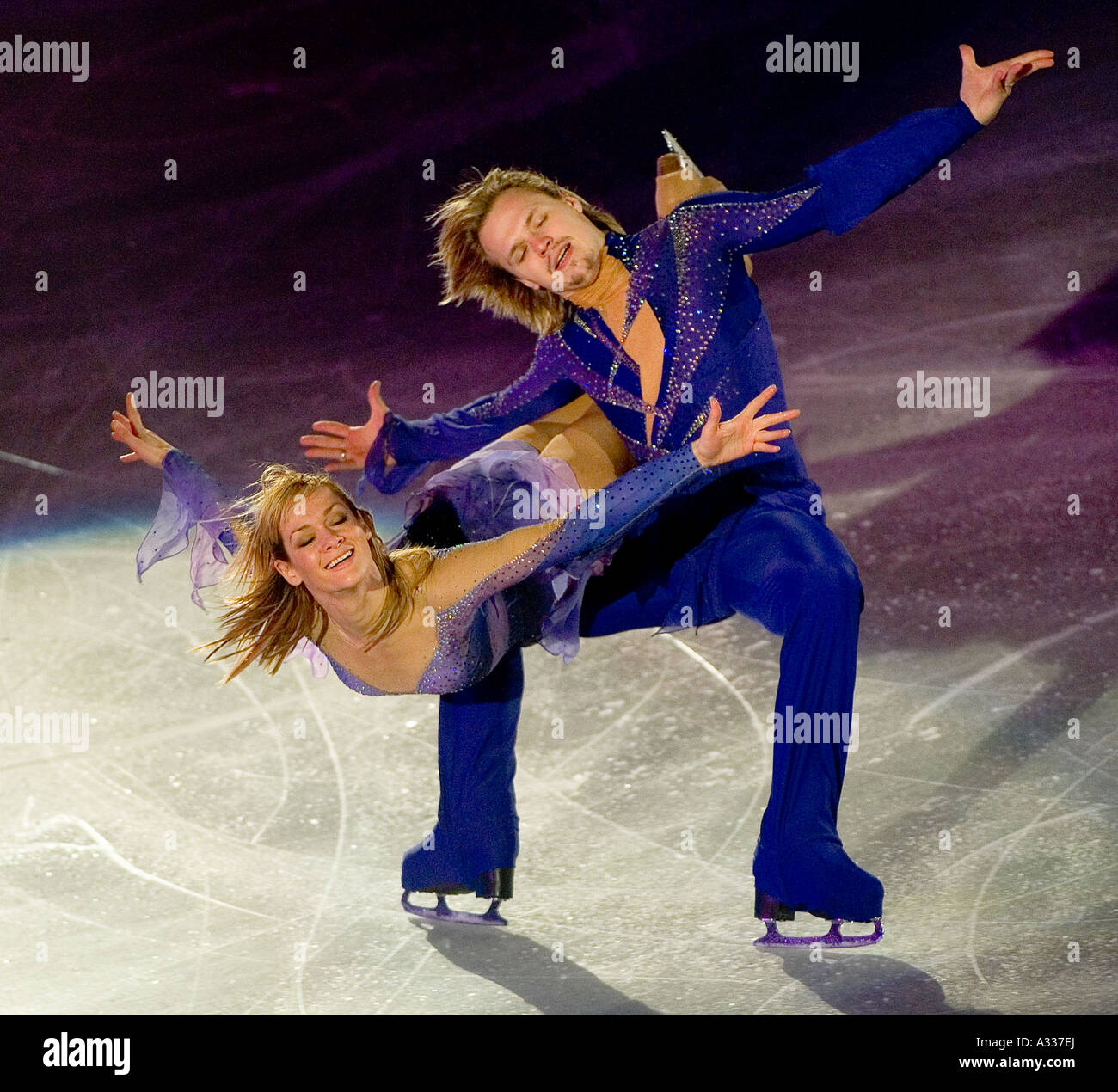 Albena DENKOVA Maxom STAVISKIJ Russland World champions in ice dancing Int Schaulaufen Oberstdorf 30 12 2006 - Stock Image