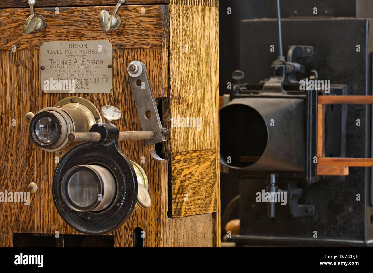 Edison Projecting Kinetoscope Thomas Edison House Louisville Kentucky - Stock Image