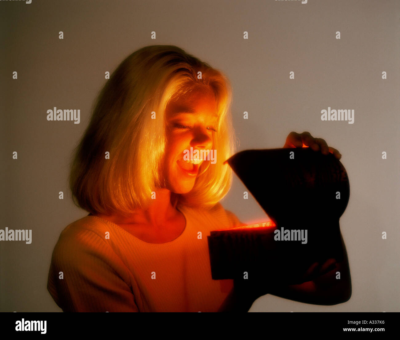 Mysterious glowing box 7C8 - Stock Image