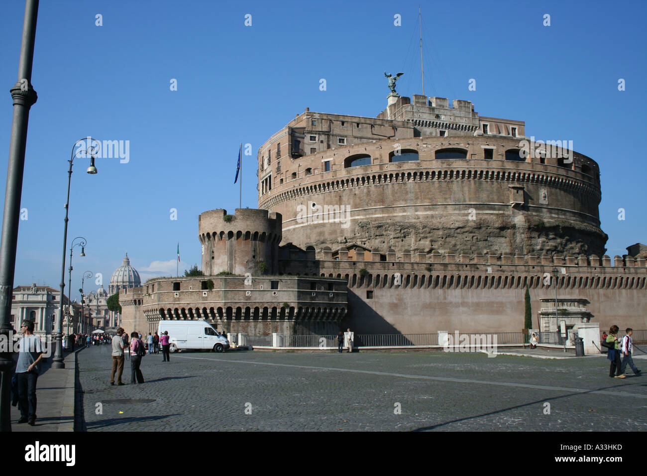 Castel Sant'Angelo fortress close to Vatican City in Rome, Lazio, Italy - Stock Image
