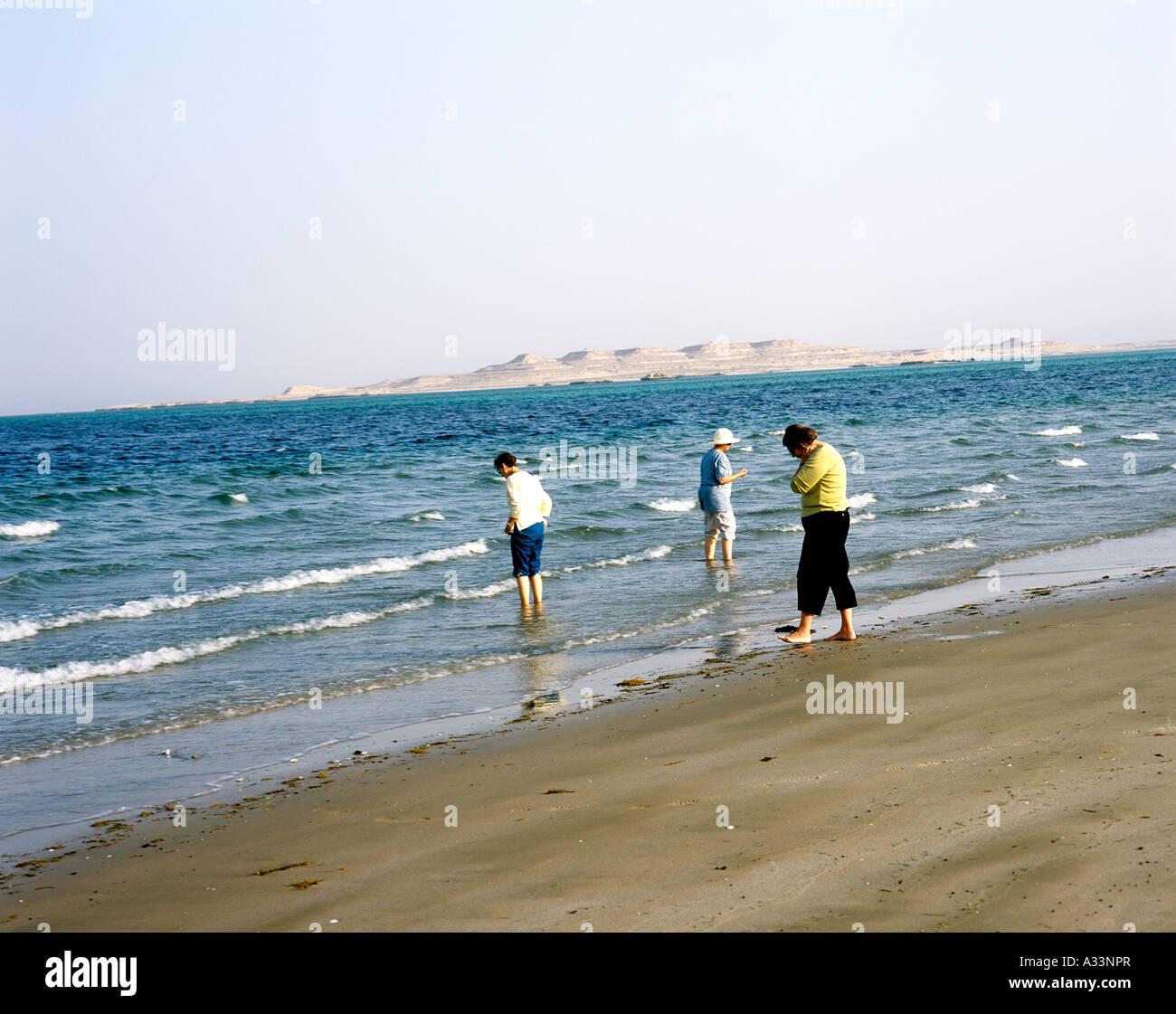 INLAND SEA SEPARATING QATAR AND SAUDI ARABIA - Stock Image