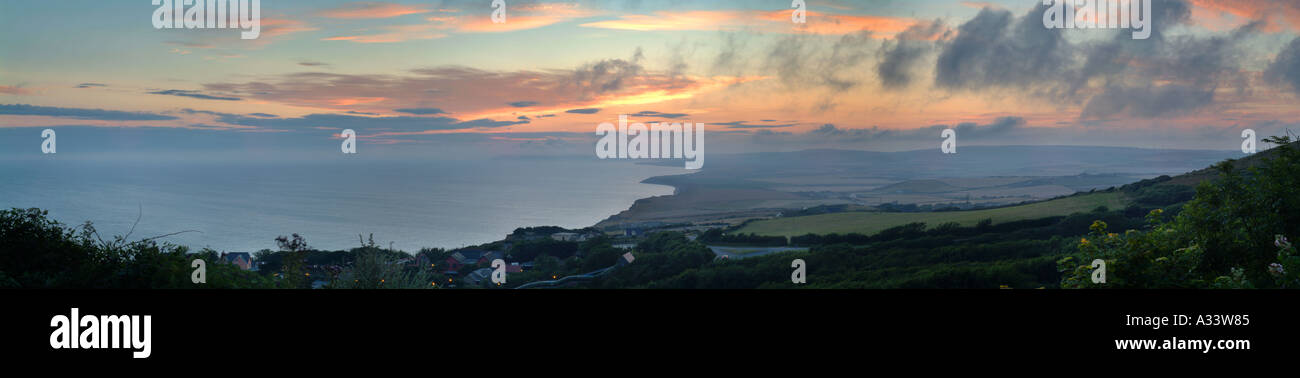 view over Blackgang Chine, Isle of Wight - Stock Image
