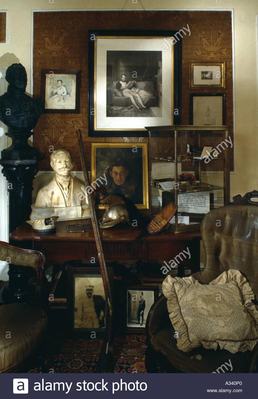 Room of Curiosities. Boal Mansion Museum, Boalsburg, Pennsylvania. - Stock Image