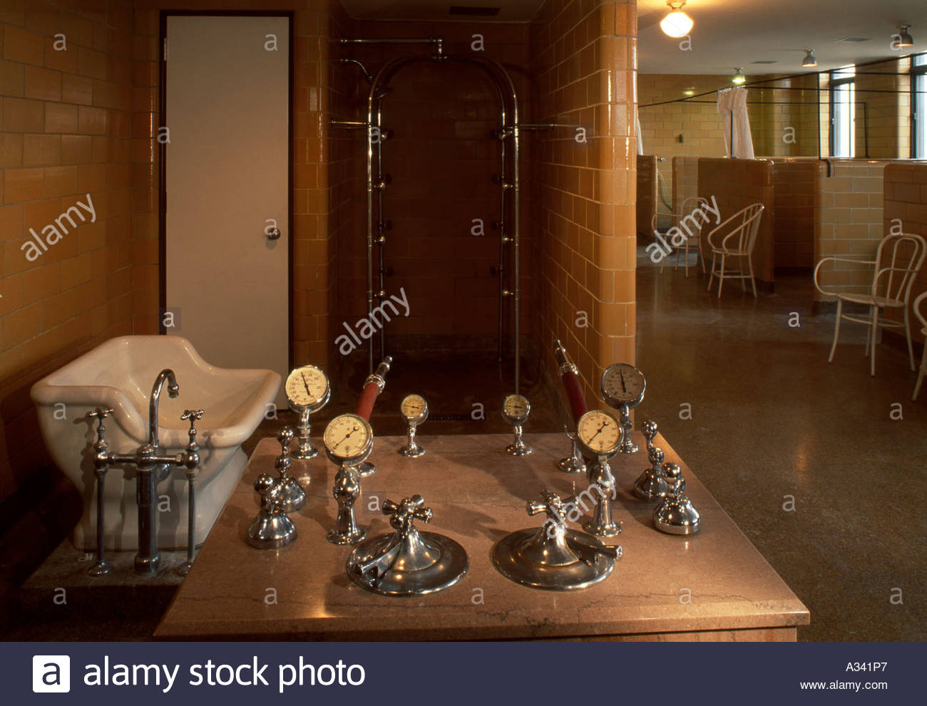 Treatment Room, Excelsior Springs. Missouri. - Stock Image