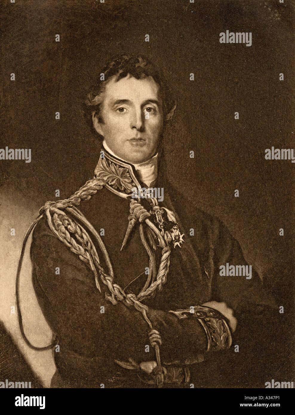 Arthur Wellesley 1st Duke of Wellington 1769 1852 British soldier and statesman - Stock Image
