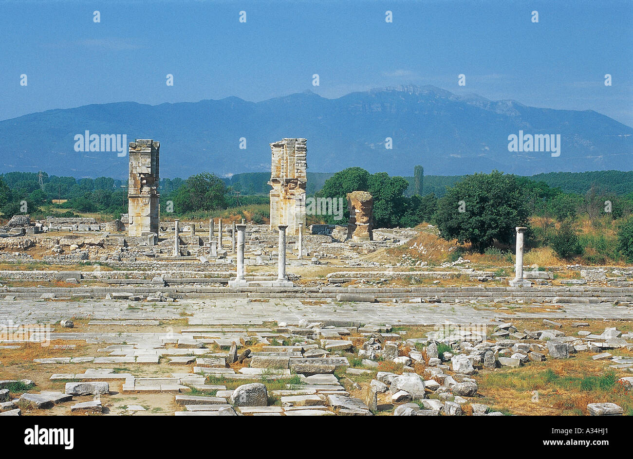 Ancient ruins of the Greek-Roman civilization - Stock Image