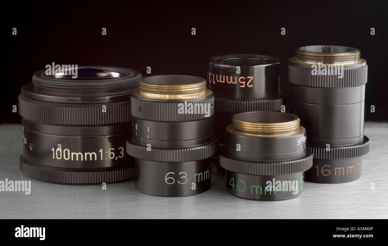 Zeiss Luminar macro lens as used originally with the Zeiss Ultraphot photomicroscope - Stock Image