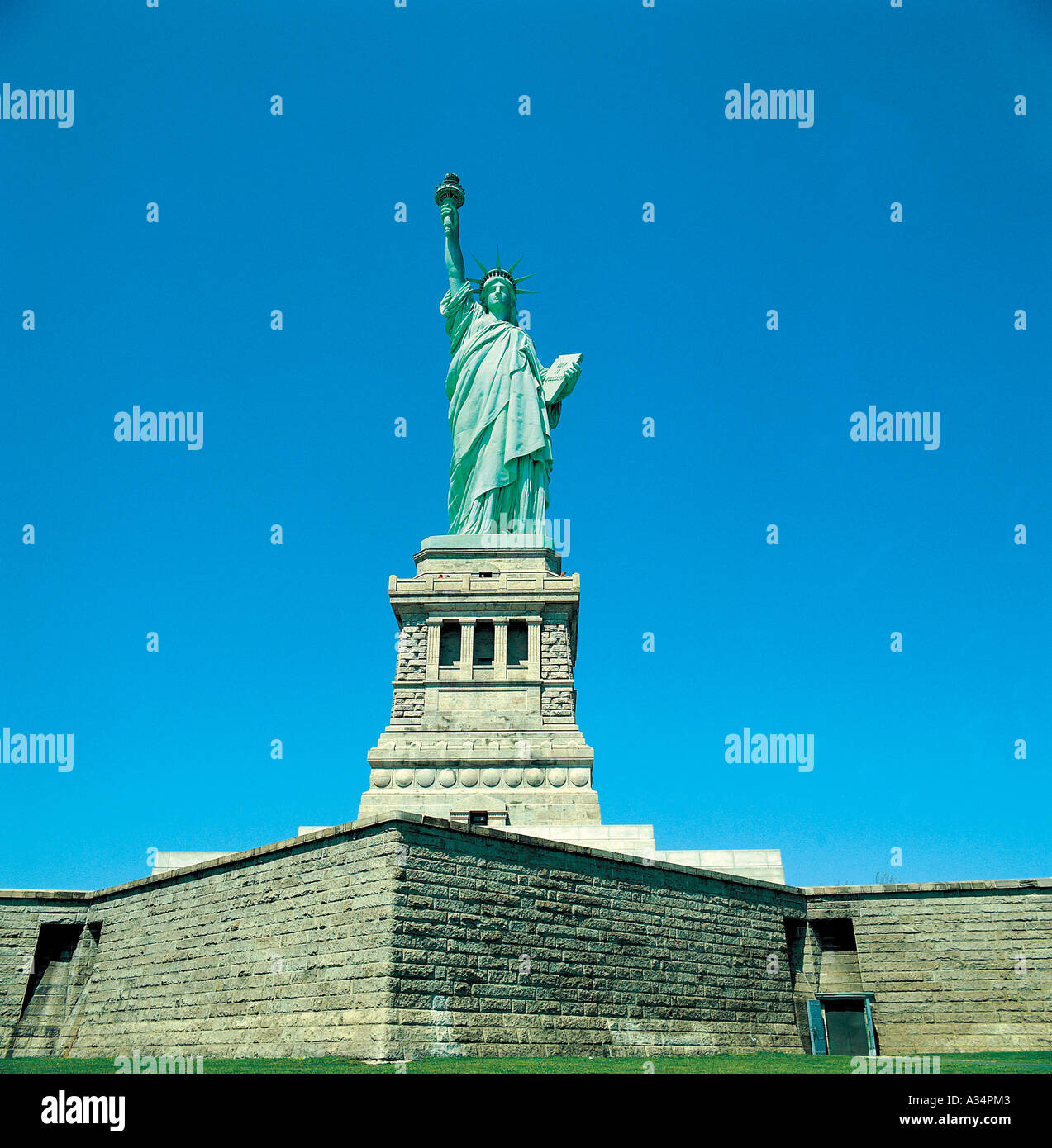 A statue of Liberty is in the USA Stock Photo