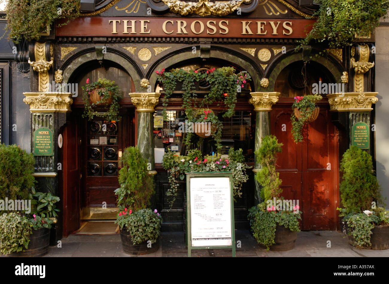 The Cross Keys pub in Endell Street Covent Garden London - Stock Image