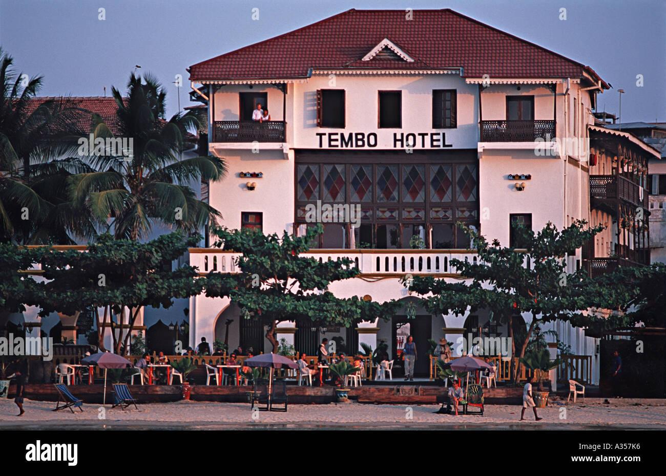 Beach front Tembo Palace Hotel Stone Town Unguja Zanzibar Tanzania East Africa - Stock Image