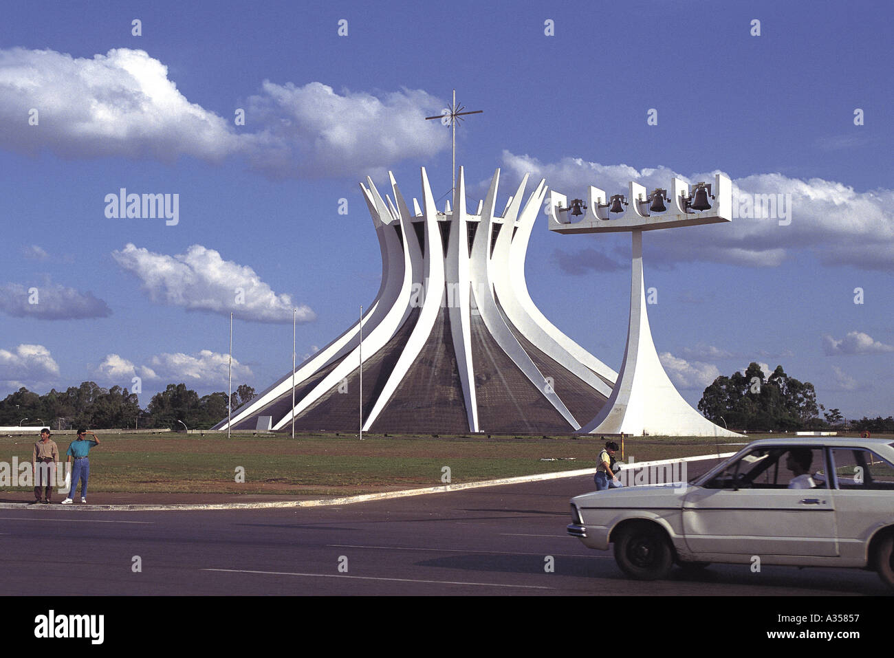 d1015eb39a2865 Brasilia Brazil Cathedral by Oscar Niemeyer architect with modern bell tower