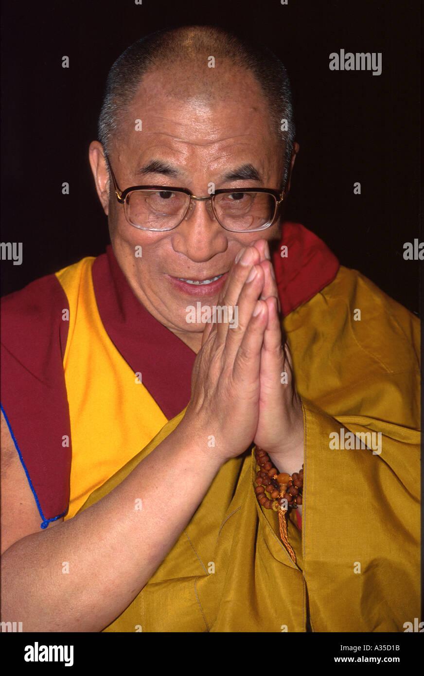 His Holiness the Dalai Lama - Stock Image