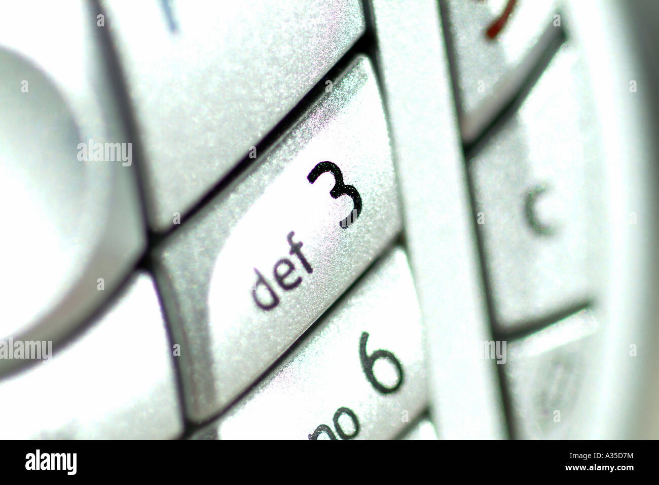 Keypad of a Nokia 6630 mobile phone UK Stock Photo: 10676263