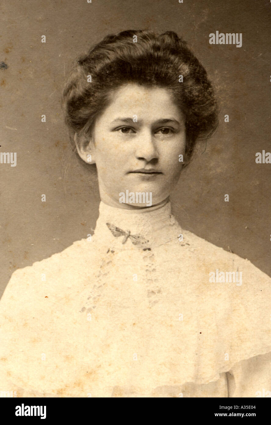 Historical picture photographica 1900 sepia - Stock Image
