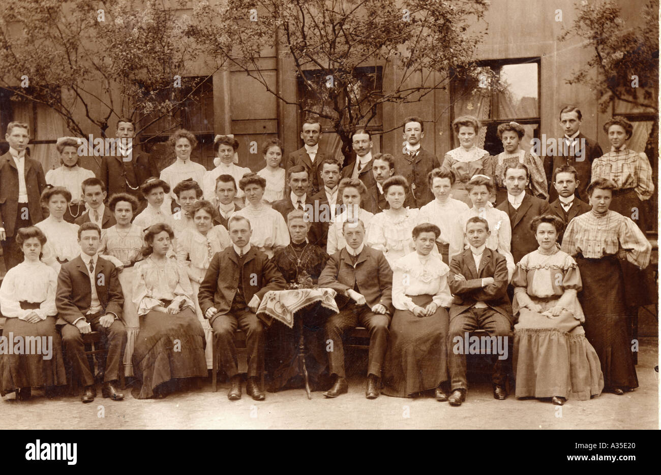 group photo of a family in the year 1900 - Stock Image