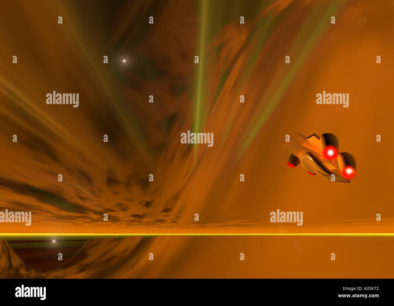 cosmic landscape science fiction - Stock Image