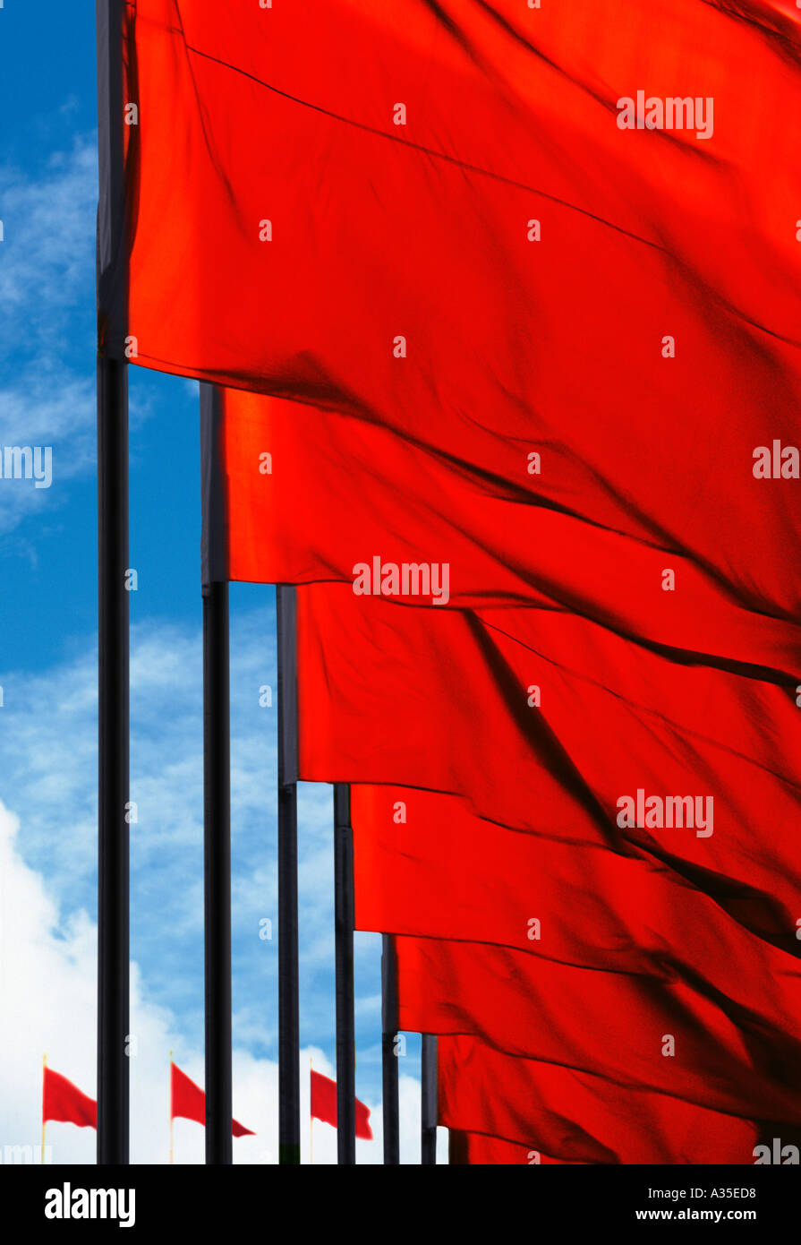Red Flags - Stock Image