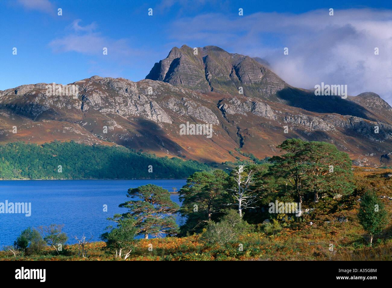 Loch Maree and Slioch Wester Ross Scotland UK - Stock Image