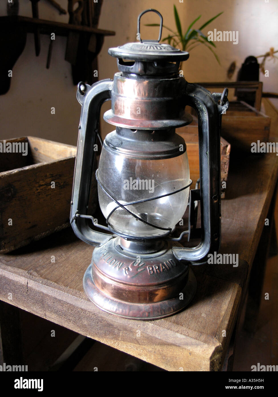Old Fashioned oil lamp - Stock Image
