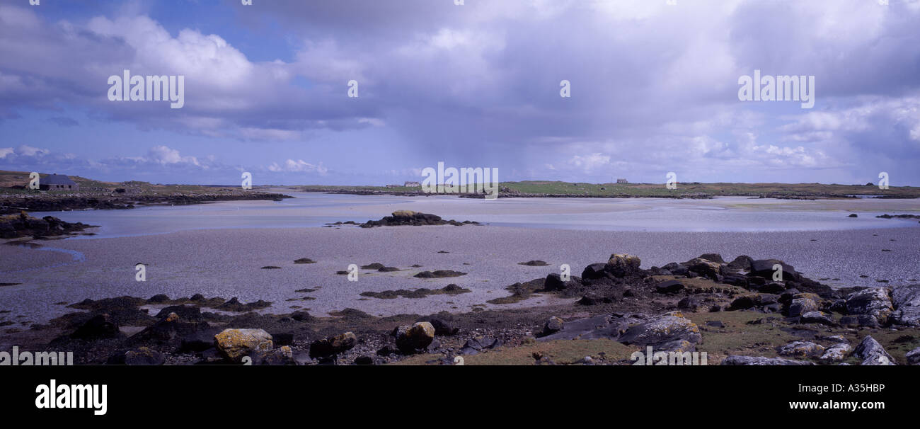 Low tide at Gramsdal South Uist, Outer Hebrides, Western Isles, Scotland. GPAN 0058 - Stock Image