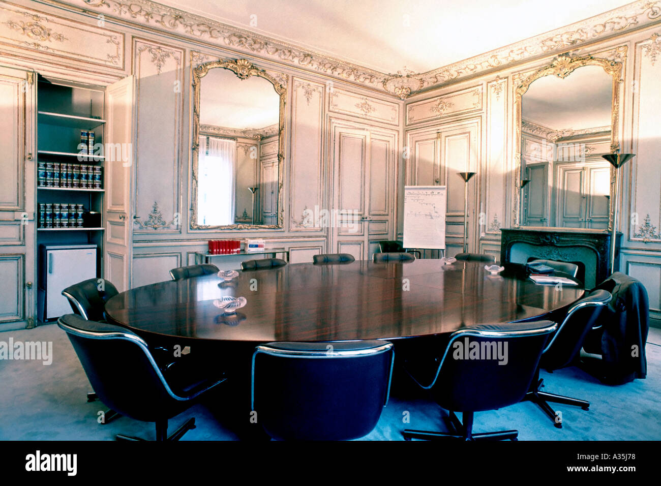 Oval Conference Table Stock Photos Oval Conference Table Stock - Old conference table