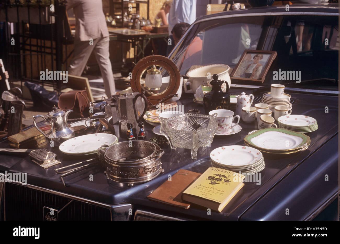 Portobello Market London UK - Stock Image