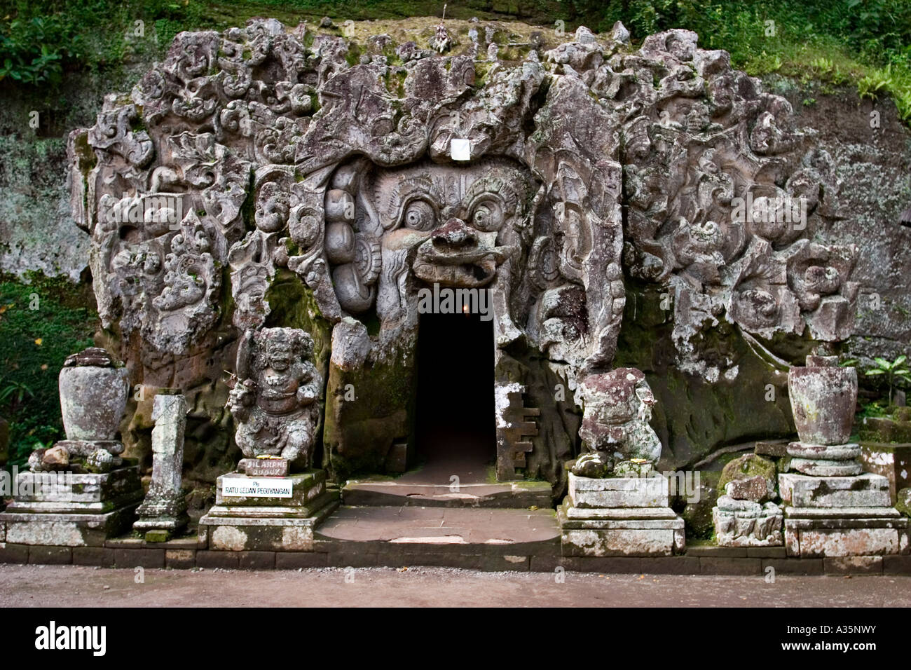 Pura Goa Gajah Elephant Cave Bali Indonesia Asia Stock Photo
