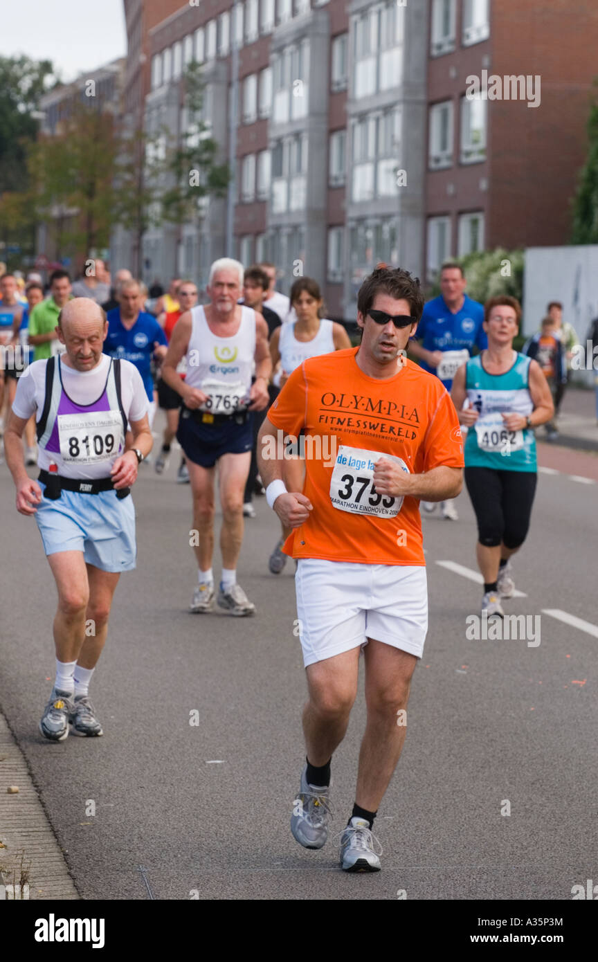 Exhausted Male Marathon Runners Editorial Only