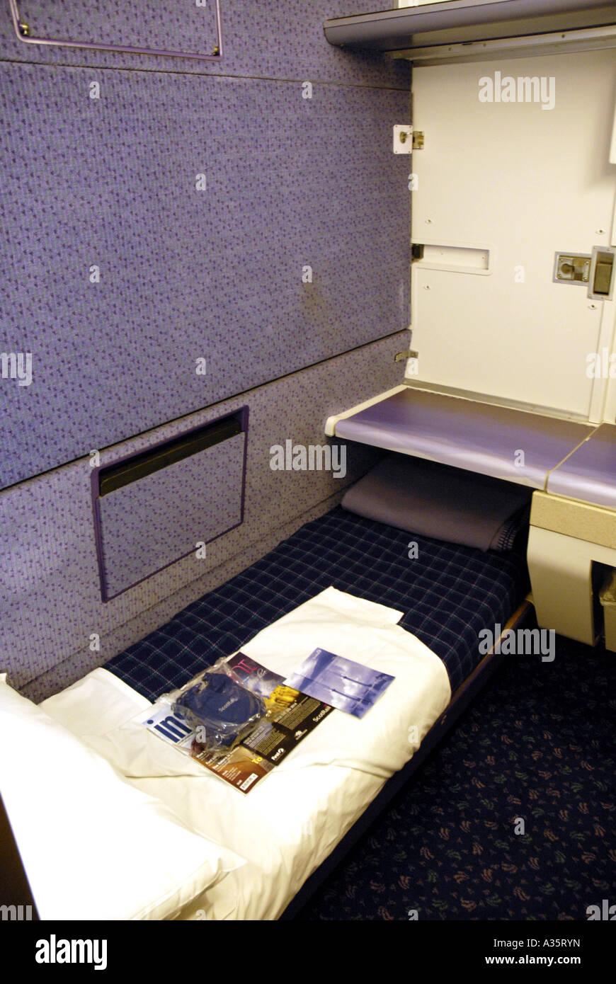 First Class Cabin On A First Scotrail Overnight Sleeper