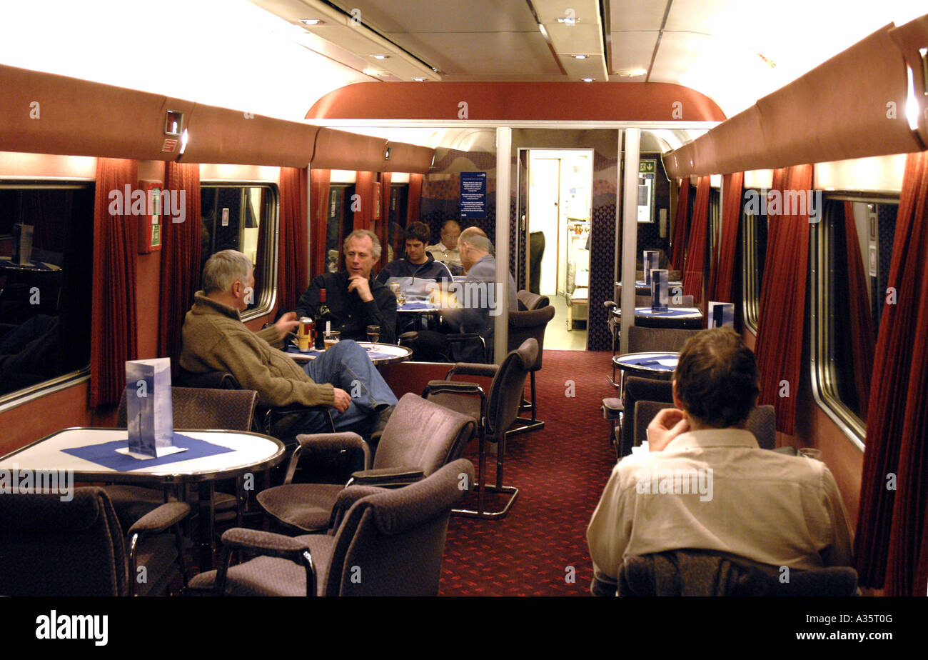 Buffet Carriage On A First Scotrail Overnight Sleeper Train