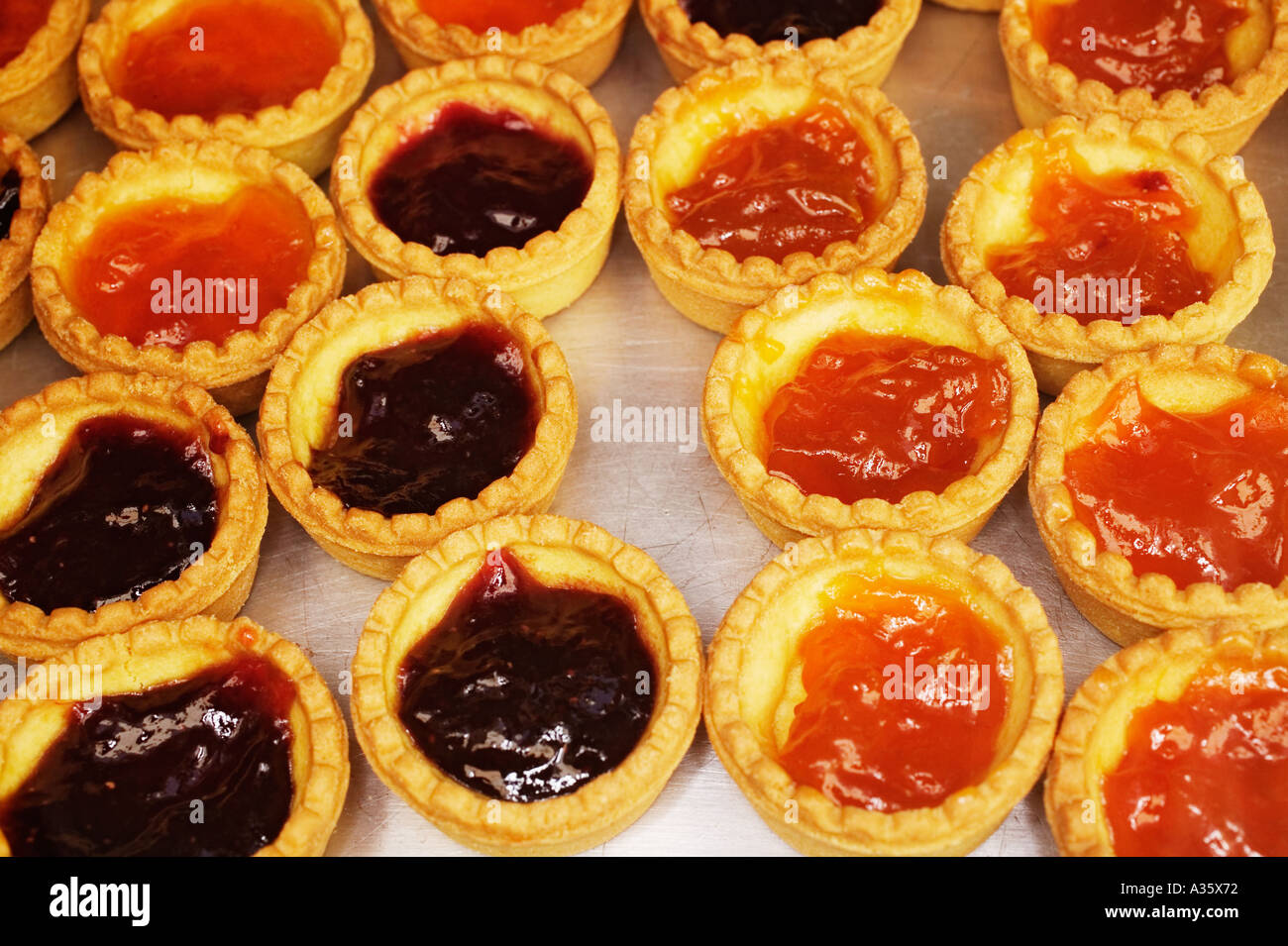 Pastry Filled With Marmalade Tuscany Italy - Stock Image
