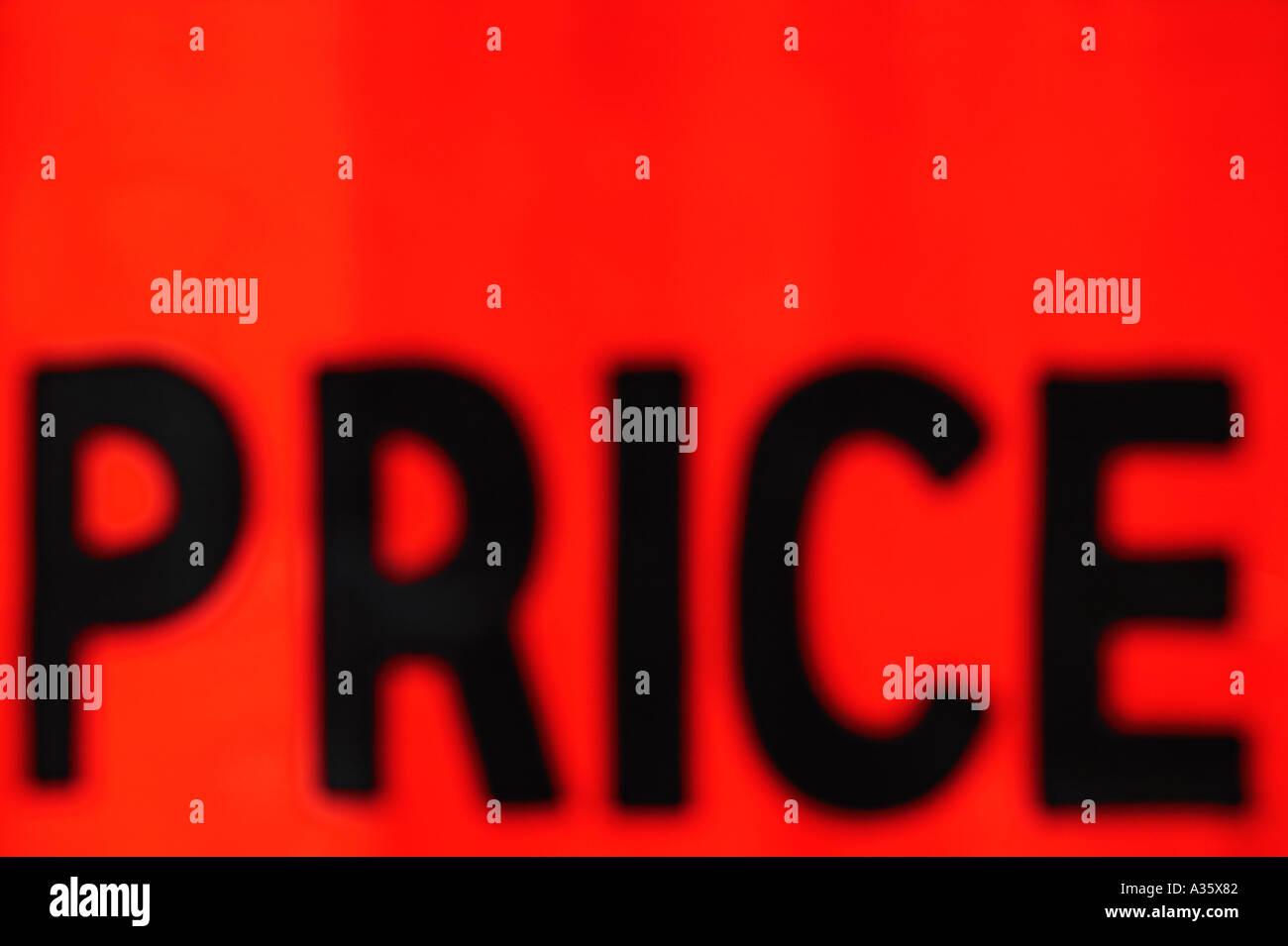 Urban Type Price Tag - Stock Image