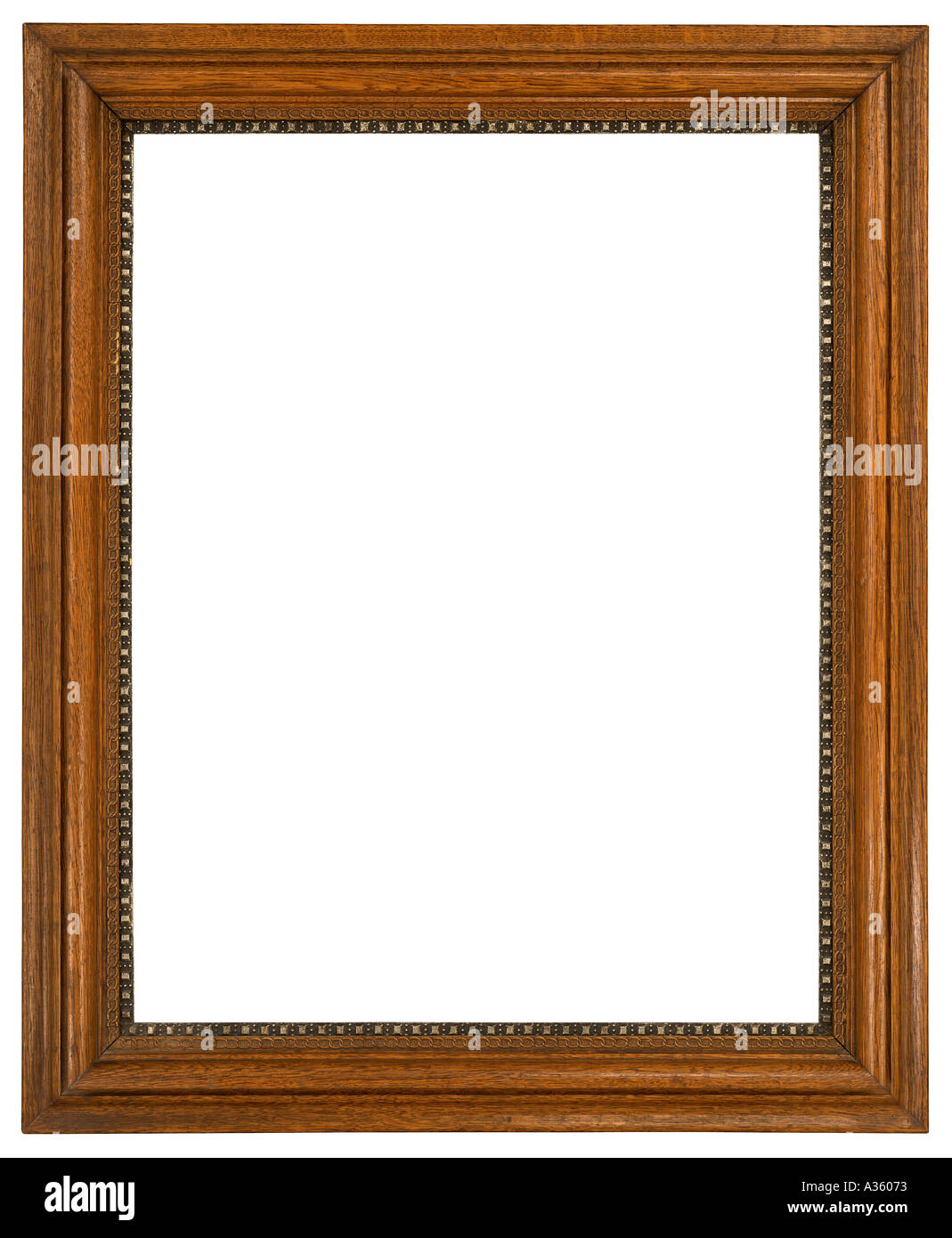 A Vertical Rectangular Decorative Wooden Frame With An Ornate Beaded