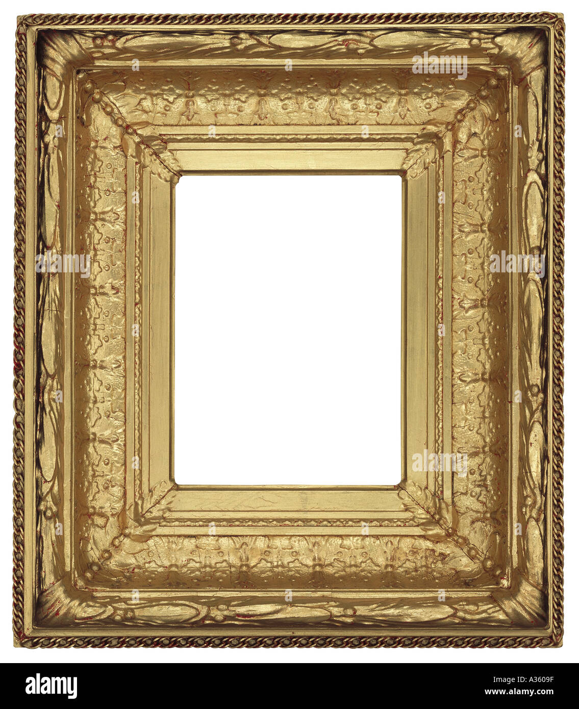 c885b28a1a2 A vertical thick gold gilded shiny rectangular decorative ornate antique  frame