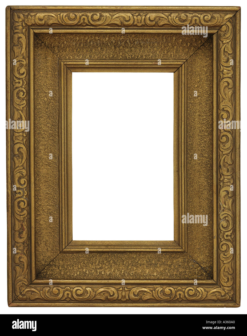 c1ee1f55b18 A vertical thick gold gilded rectangular decorative ornate antique frame