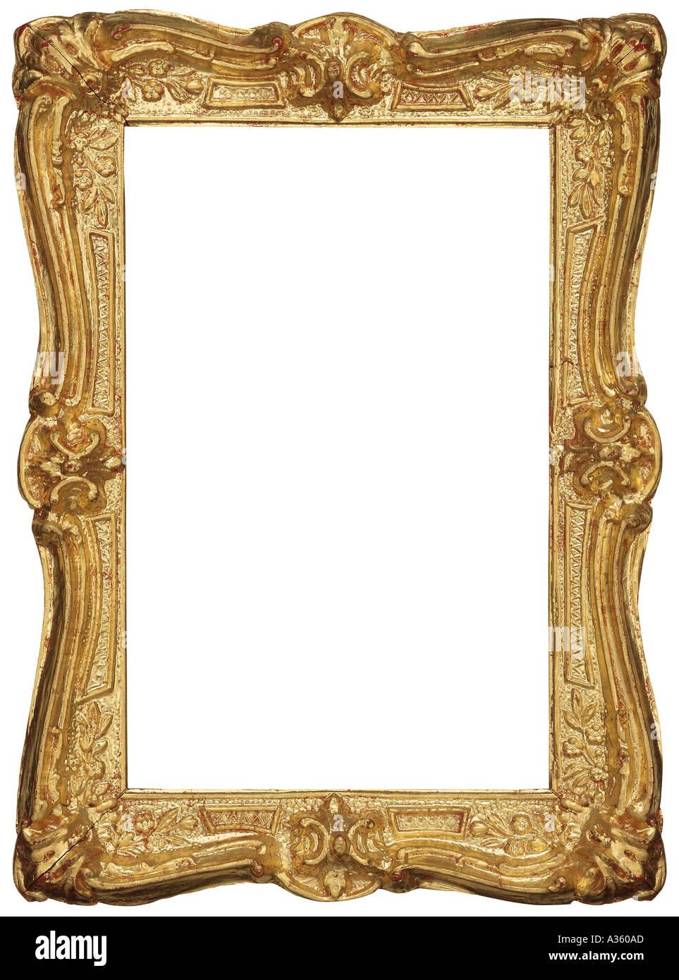 d127a864842 A vertical gold gilded rectangular decorative shiny ornate antique frame