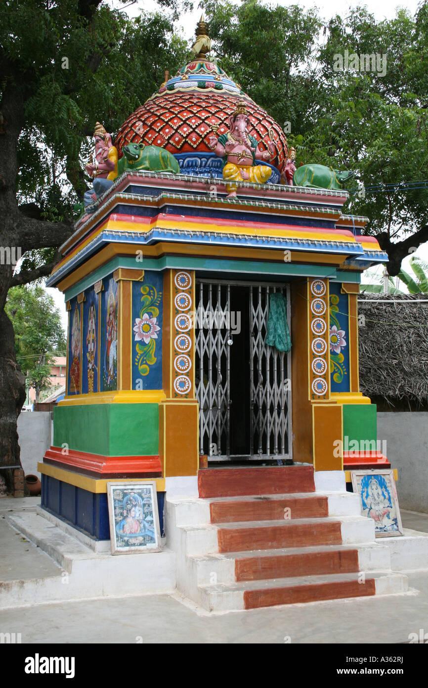 Small Hindu Temple   Chennai   India Stock Photo  10682165