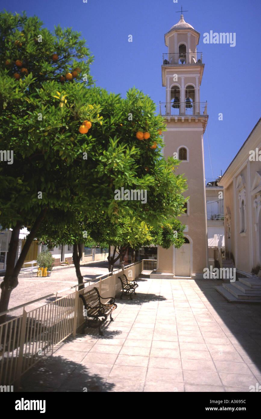 Greek Orthodox Church Argostoli Greek Ionian Island of Kefalonia Cephellonia Greece Europe - Stock Image