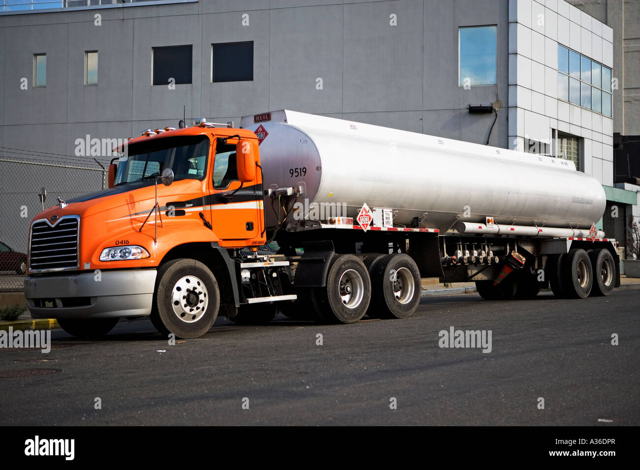 Oil Tanker Fuel Gas Petrol Oil Transportation Truck Delivery Stock Photo Alamy