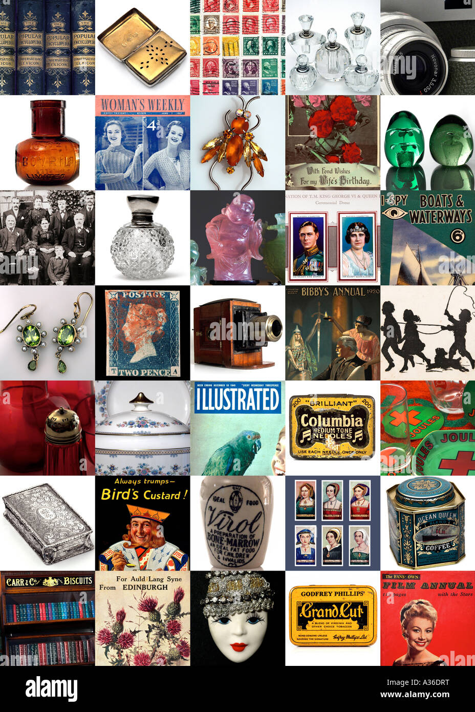 35 image composite of antiques and collectables 2007 EDITORIAL USE ONLY - Stock Image