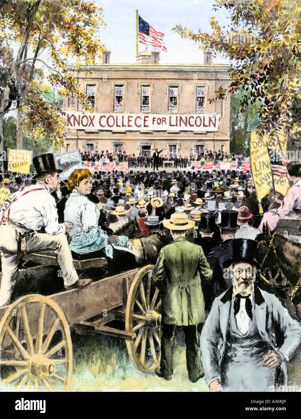 abraham lincoln first debate with stephen Historians have traditionally regarded the series of seven debates between stephen a douglas and abraham lincoln during the 1858 illinois state election campaign as among the most significant.