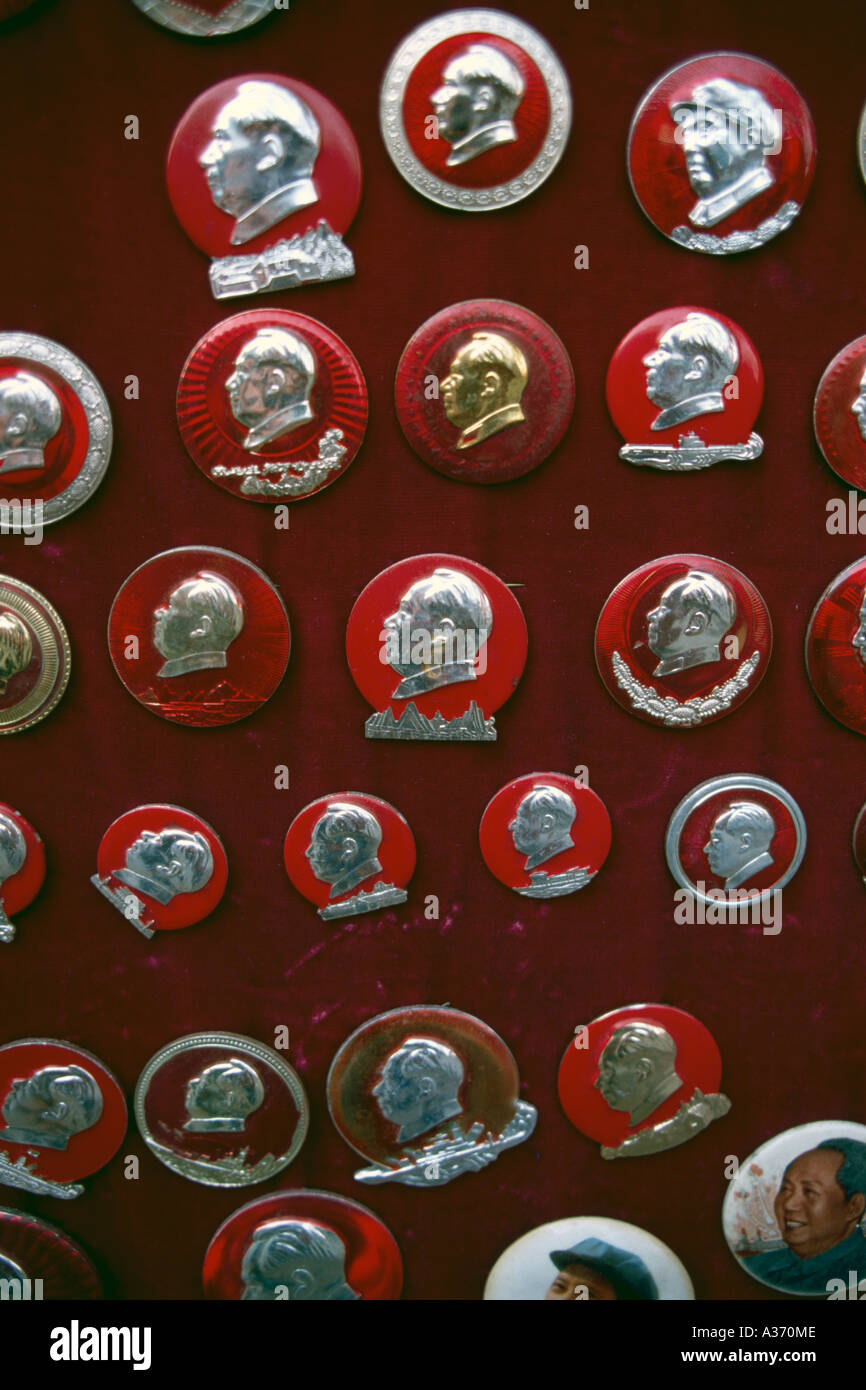 Devotional Objects Of Mao Beijing China - Stock Image