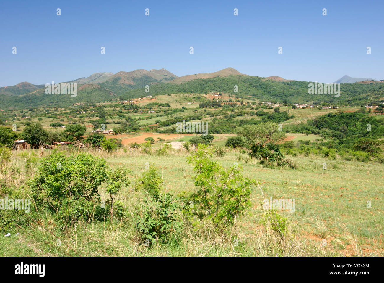 Scenery about 20km north of Piggs Peak in the Hhohho district of Swaziland Stock Photo