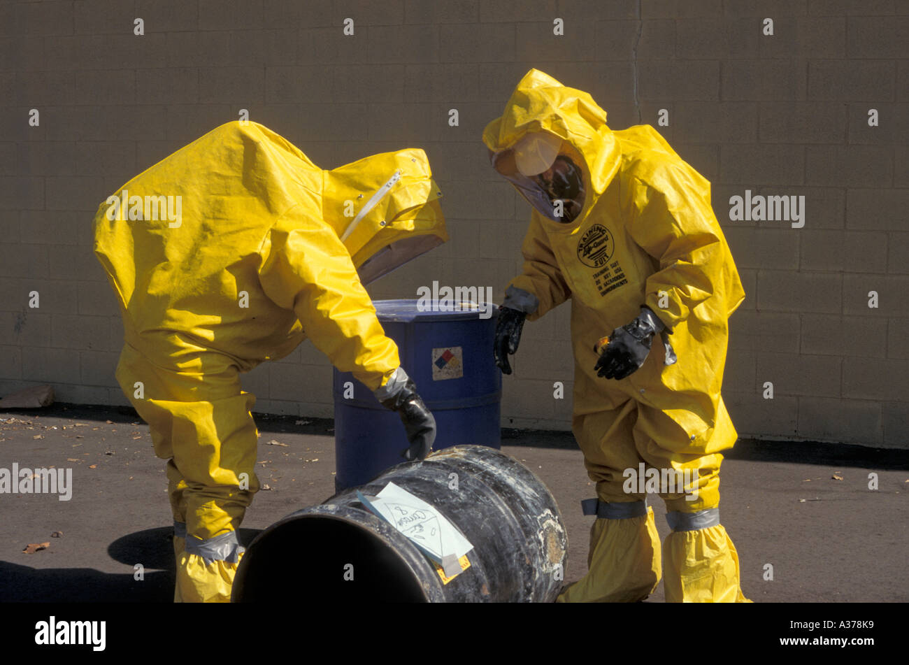 Training for Toxic Chemical Spills - Stock Image
