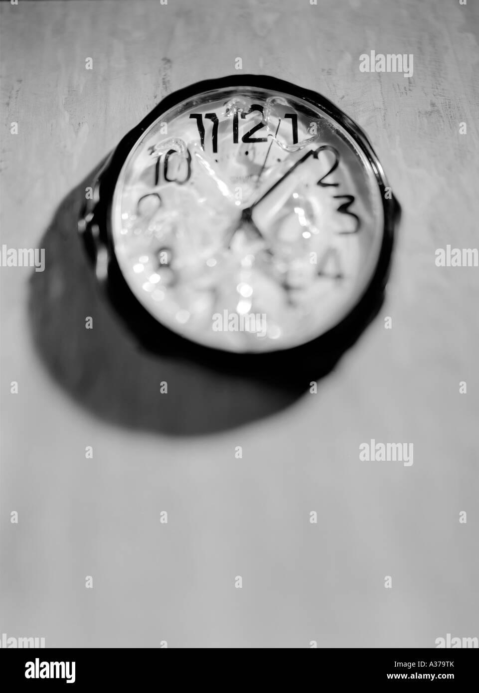 melting time - Stock Image