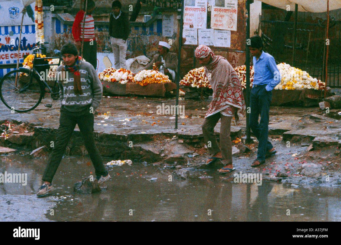 Jaipur India Monsoon Floods - Stock Image