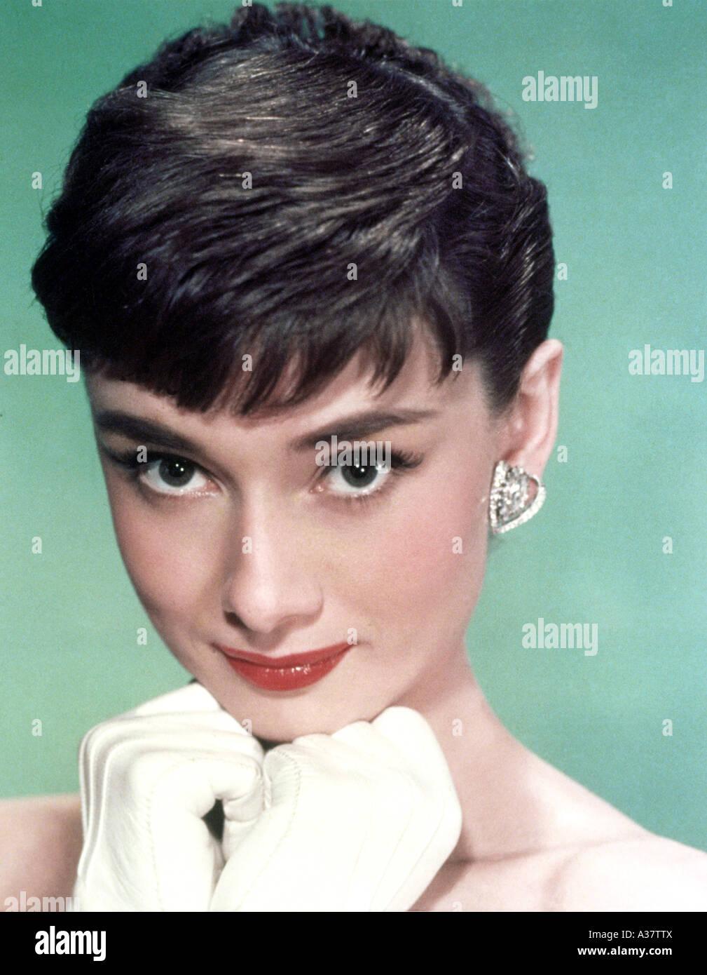 AUDREY HEPBURN  Belgian-born film actress 1929 to 1993 - Stock Image